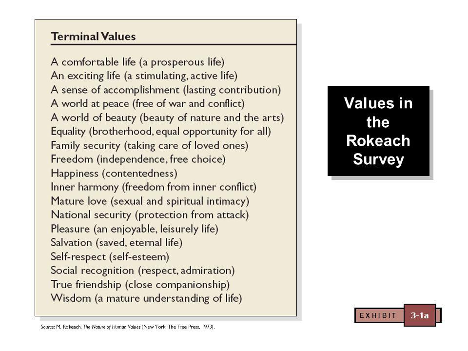 Values in the Rokeach Survey