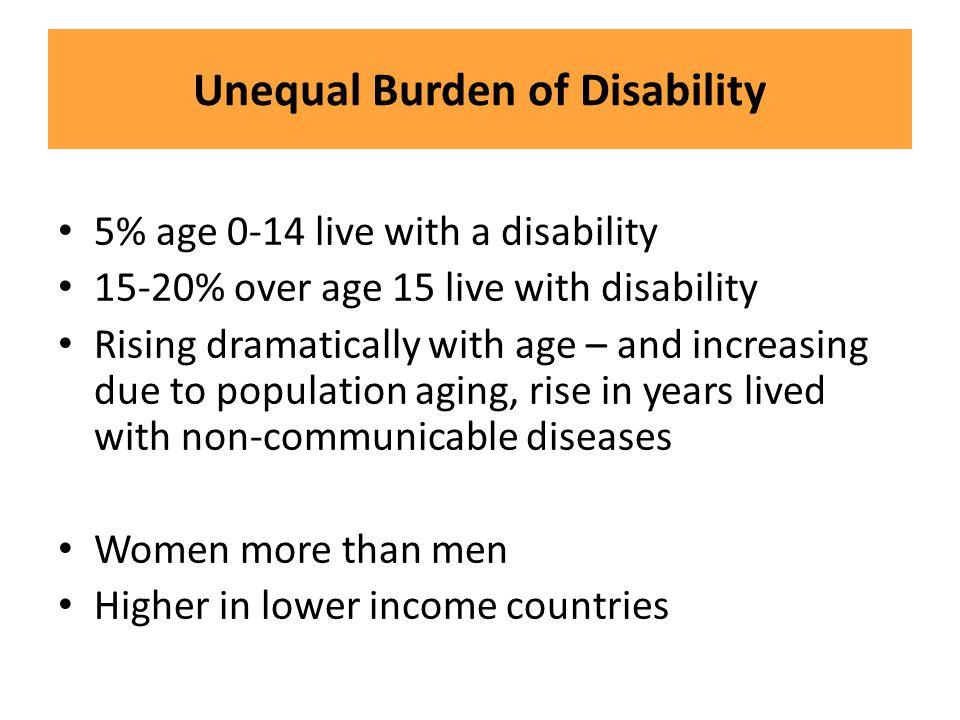 Unequal Burden of Disability