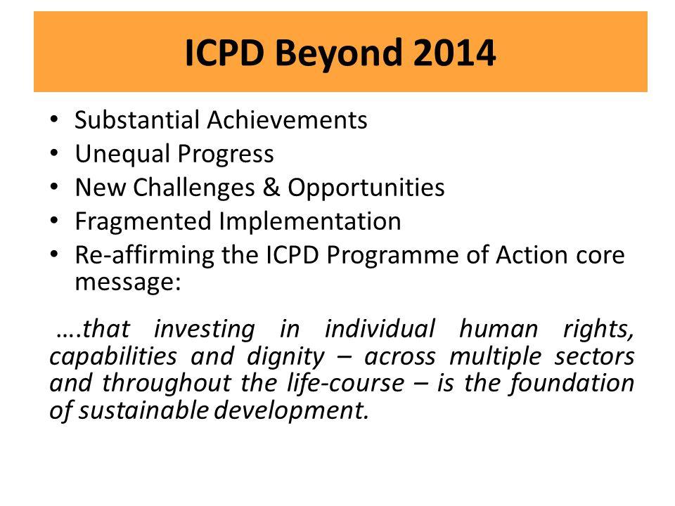 ICPD Beyond 2014 Substantial Achievements Unequal Progress