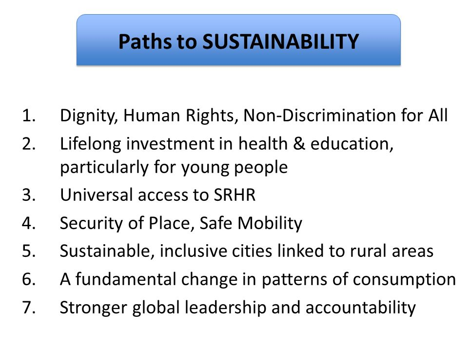 Paths to SUSTAINABILITY