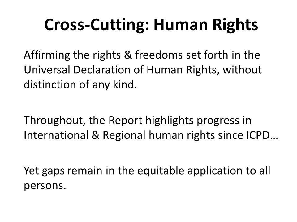 Cross-Cutting: Human Rights