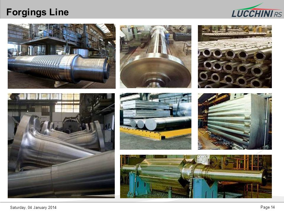 Forgings Line Saturday, 25 March 2017