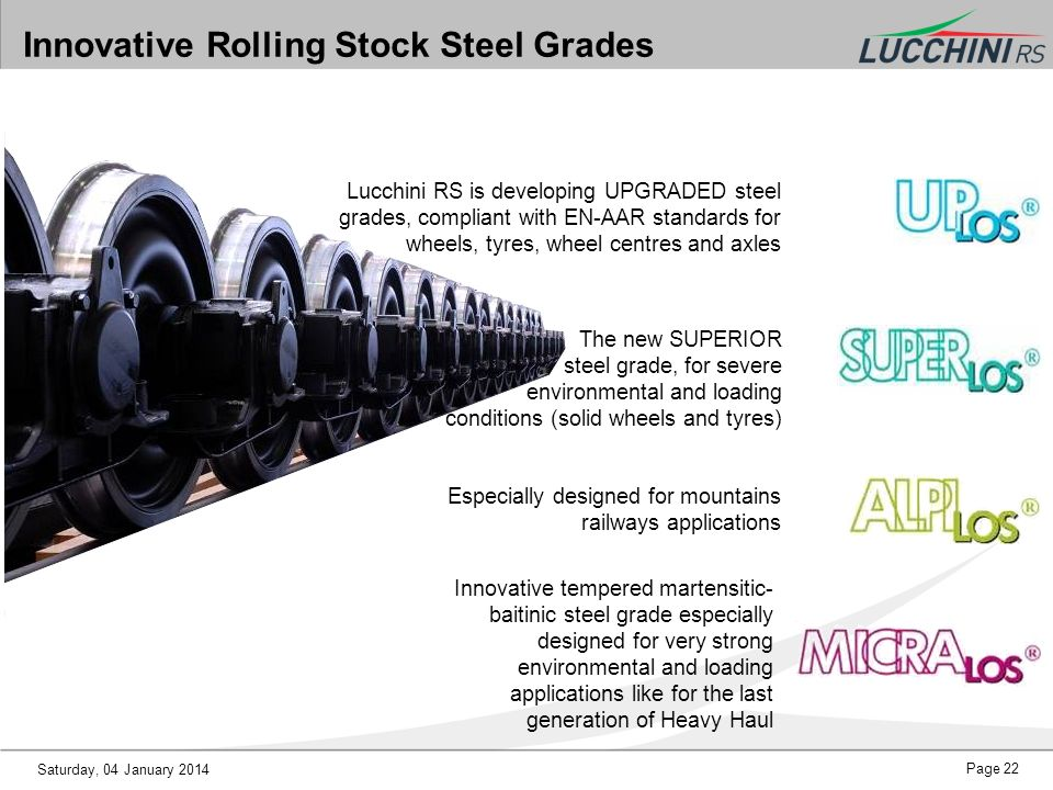 Innovative Rolling Stock Steel Grades