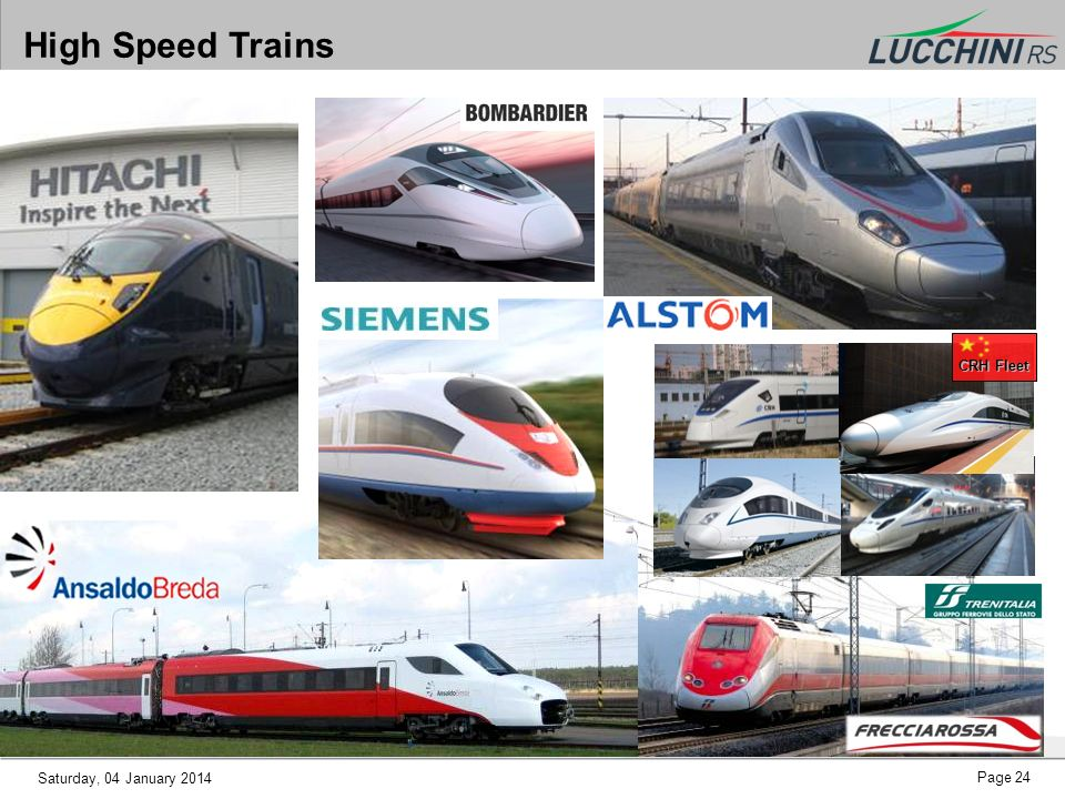 High Speed Trains CRH Fleet Saturday, 25 March 2017