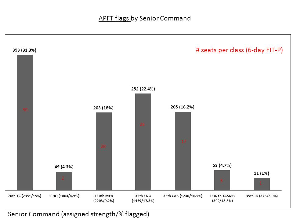 APFT flags by Senior Command