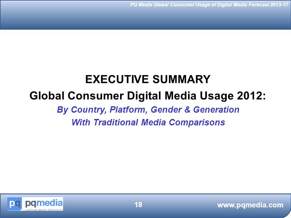 EXECUTIVE SUMMARY Global Consumer Digital Media Usage 2012: