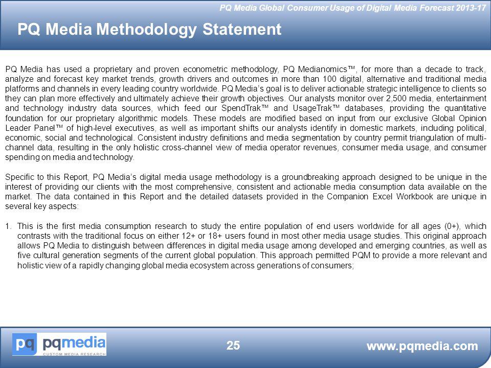 PQ Media Methodology Statement