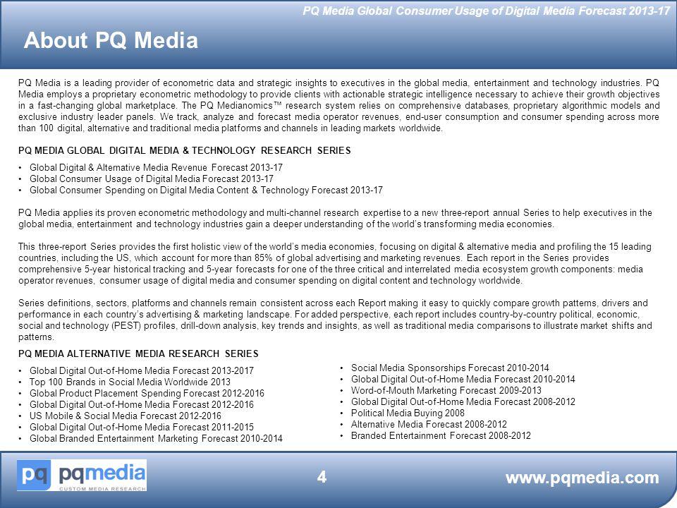 About PQ Media www.pqmedia.com