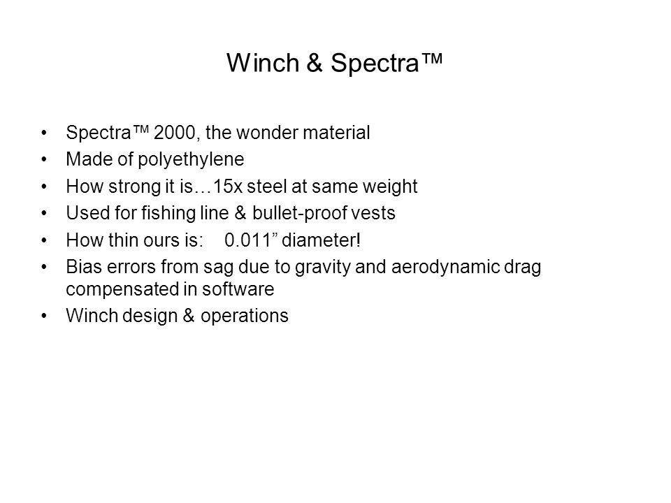 Winch & Spectra™ Spectra™ 2000, the wonder material