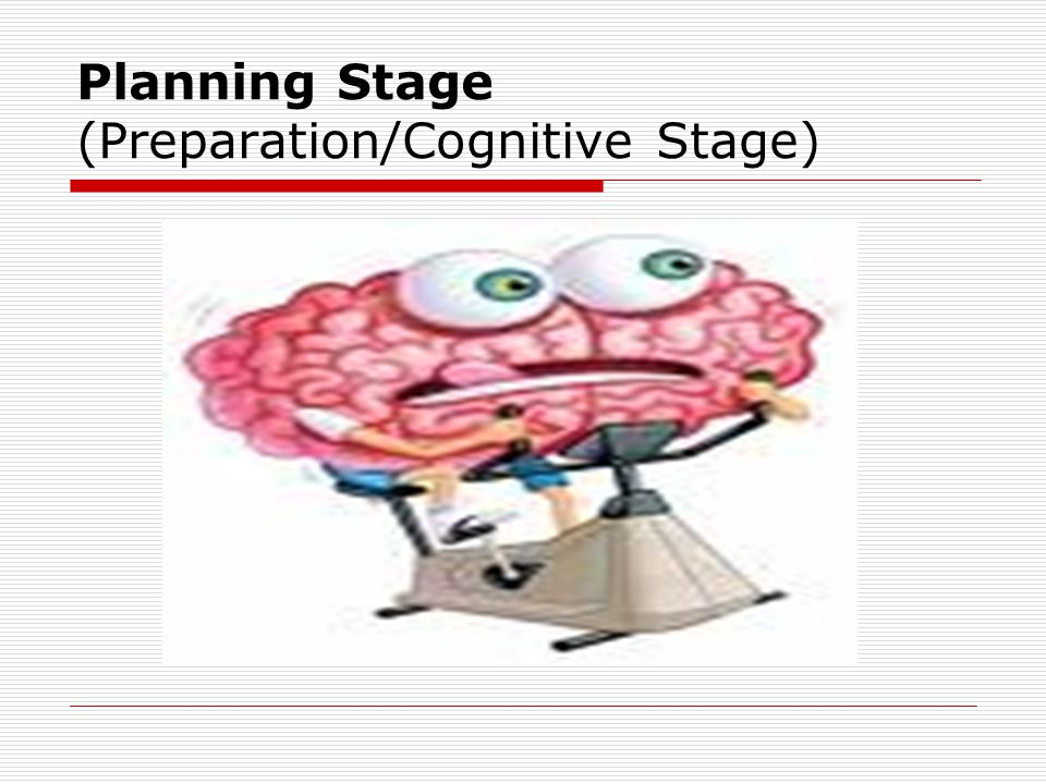 Planning Stage (Preparation/Cognitive Stage)