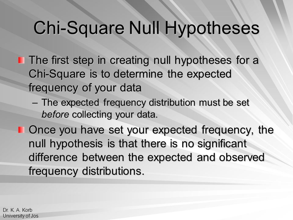 Chi-Square Null Hypotheses