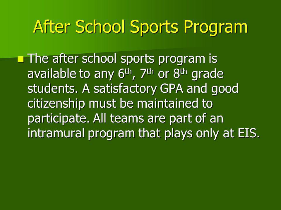 After School Sports Program