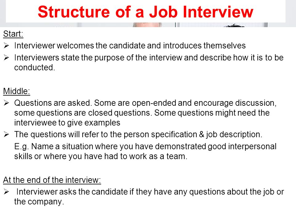 Structure of a Job Interview