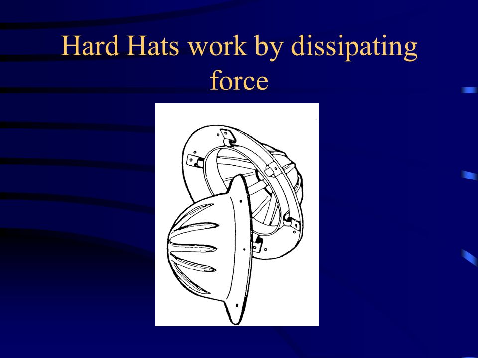 Hard Hats work by dissipating force