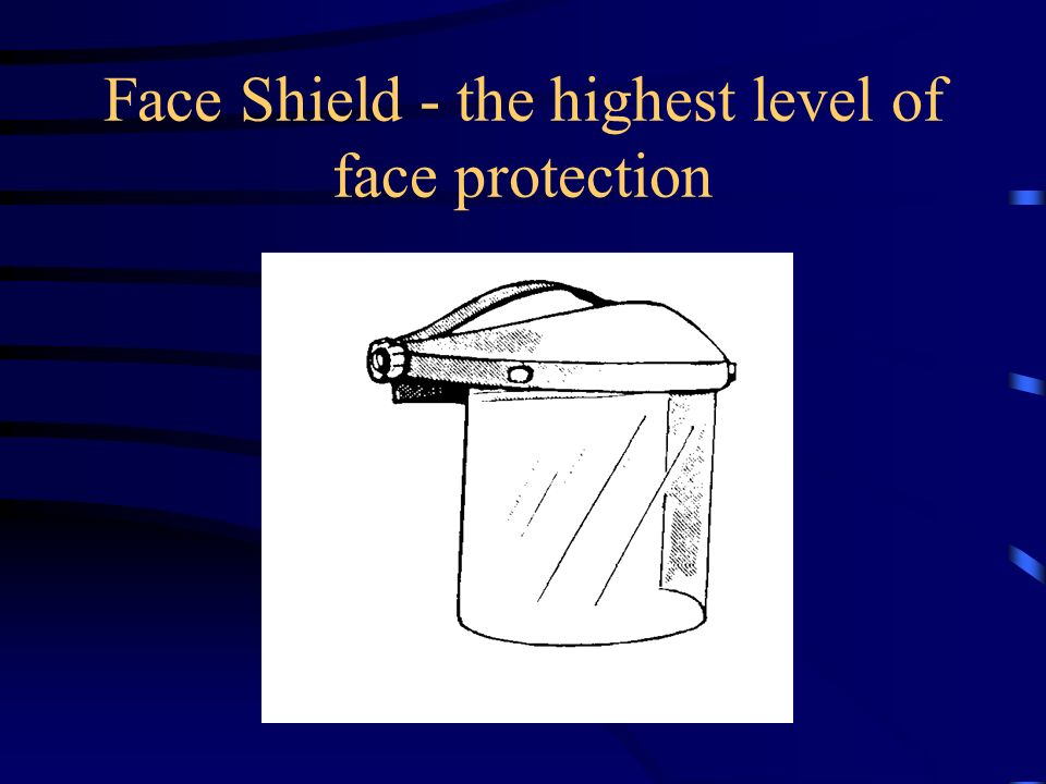 Face Shield - the highest level of face protection