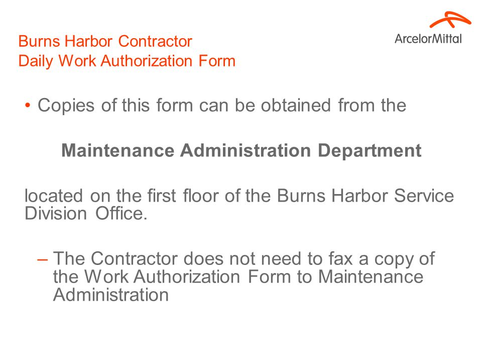 Burns Harbor Contractor Daily Timesheet