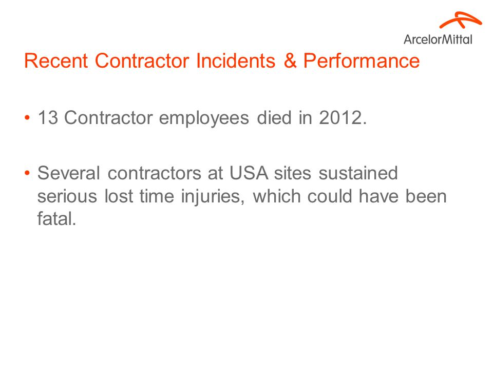 Contractor Safety Letter and Written Acknowledgement Summary