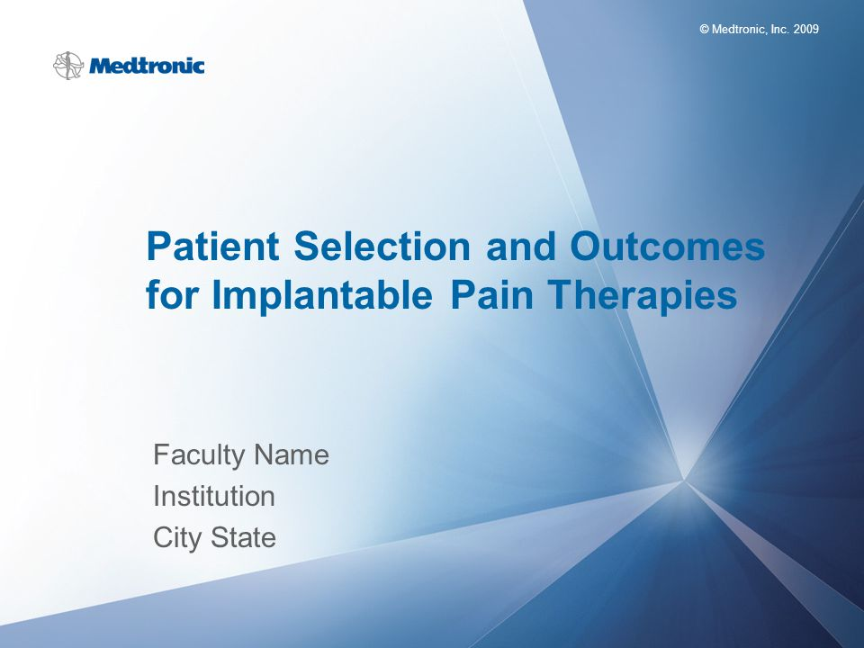 Patient Selection and Outcomes for Implantable Pain Therapies