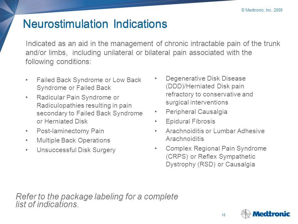 Neurostimulation Indications