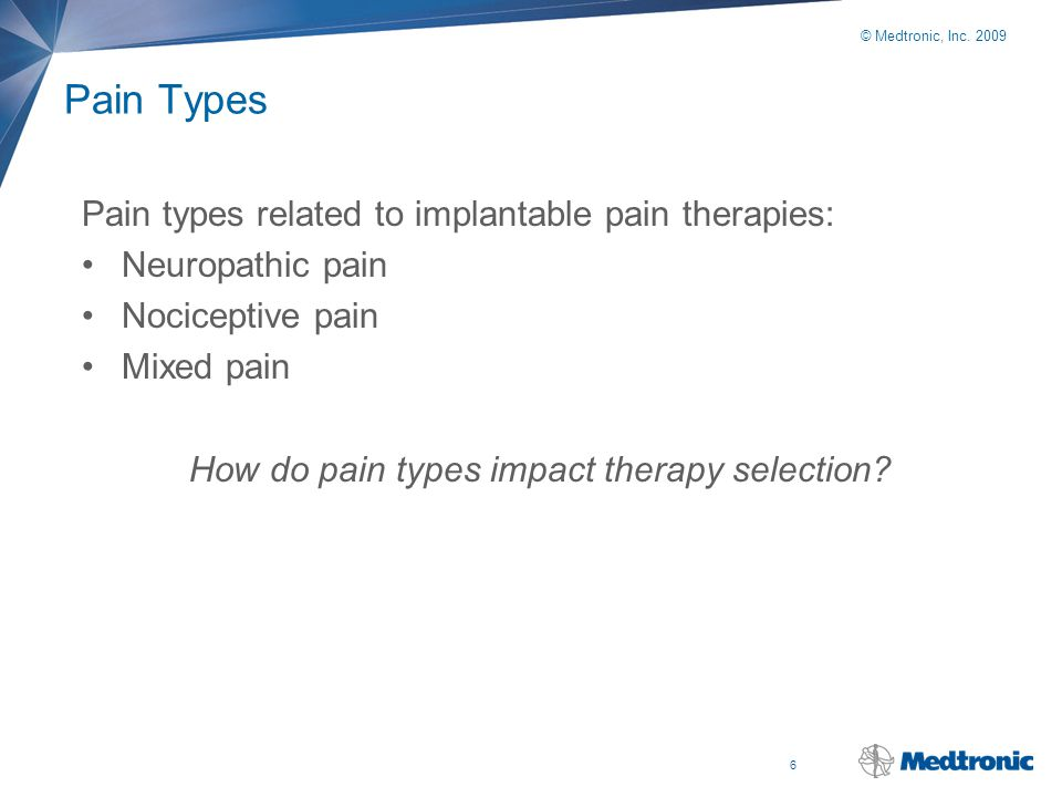 How do pain types impact therapy selection