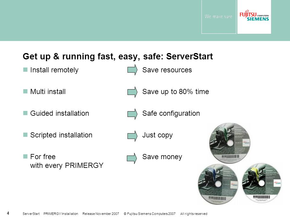 Get up & running fast, easy, safe: ServerStart