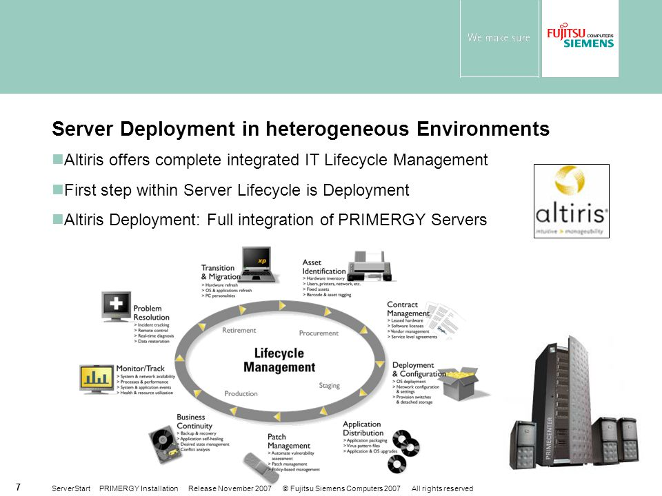Server Deployment in heterogeneous Environments