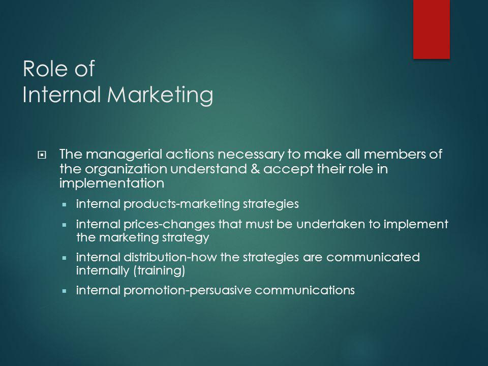 Role of Internal Marketing