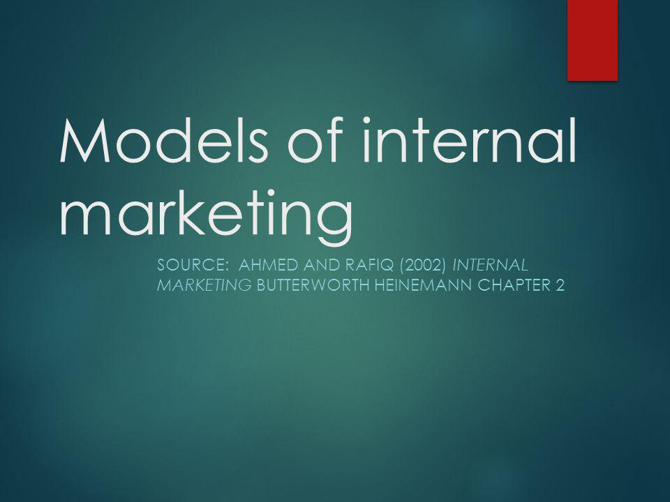 Models of internal marketing