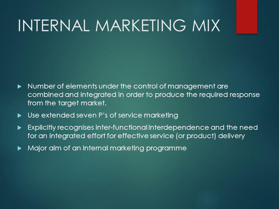 INTERNAL MARKETING MIX