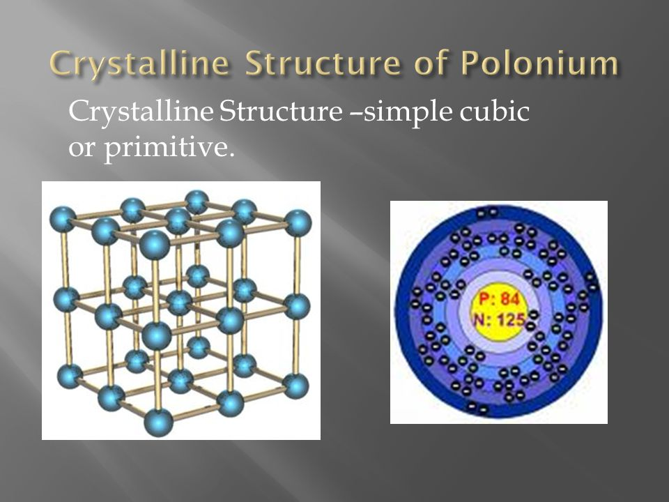 Crystalline Structure of Polonium