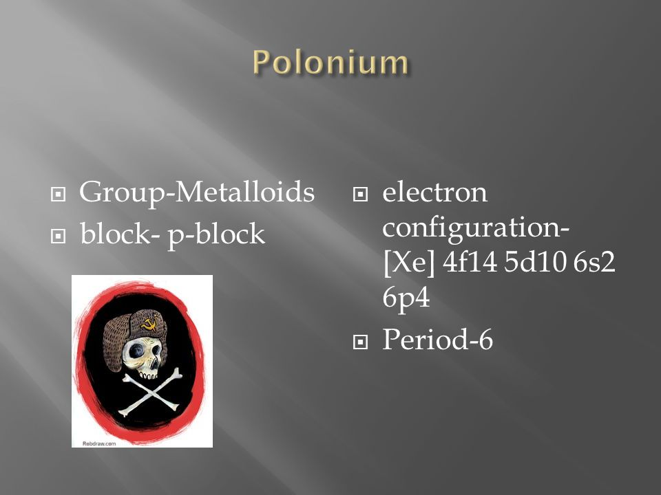 Polonium Group-Metalloids block- p-block