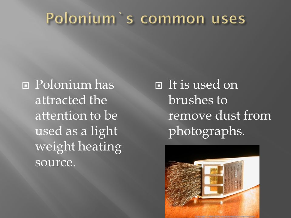 Polonium`s common uses