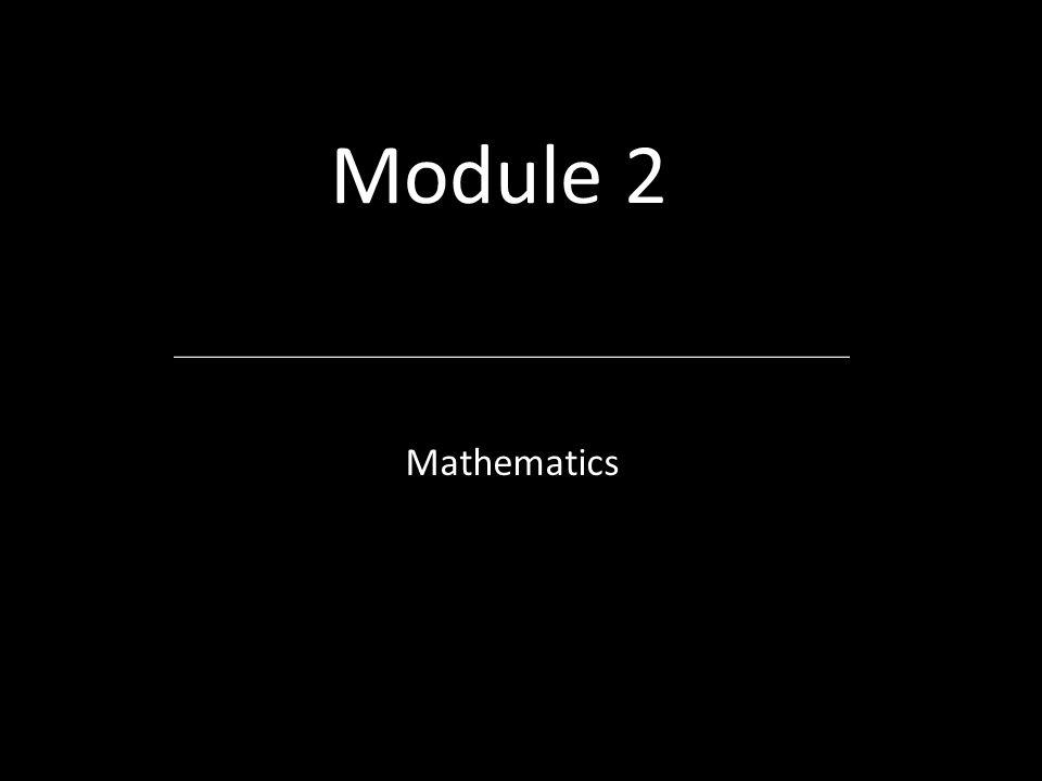 Module 2 Mathematics