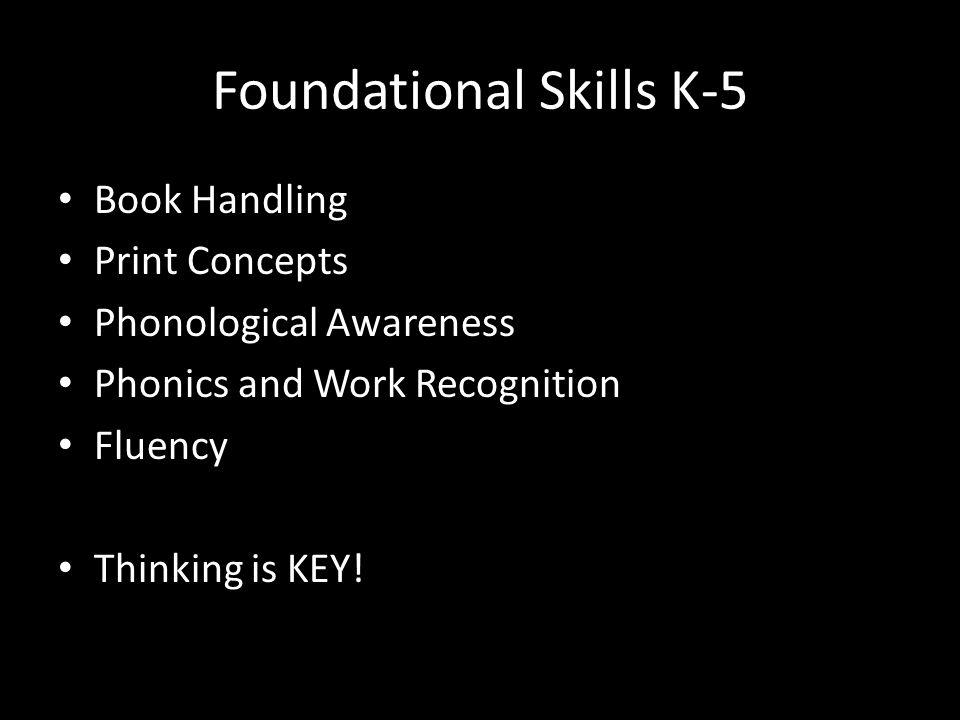 Foundational Skills K-5
