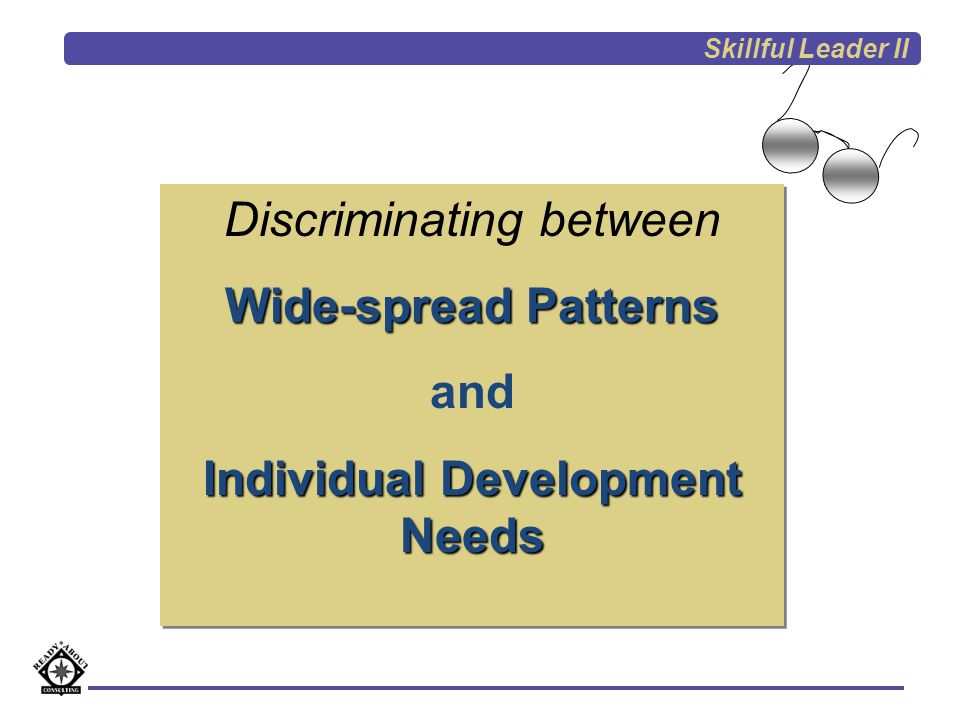 Individual Development Needs