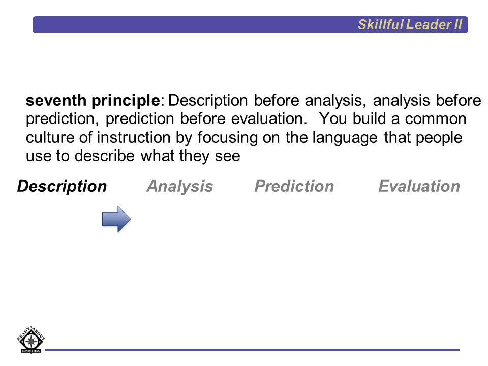 Description Analysis Prediction Evaluation