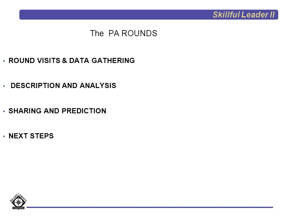 Skillful Leader II The PA ROUNDS ROUND VISITS & DATA GATHERING