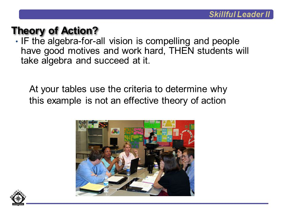 Skillful Leader II Theory of Action
