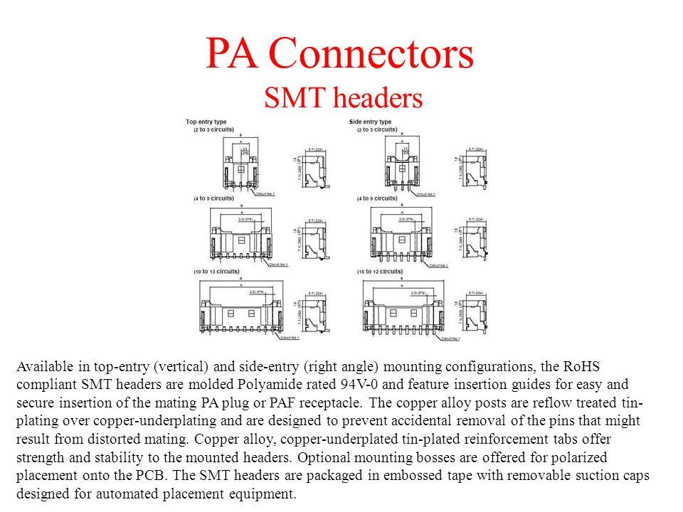 PA Connectors SMT headers