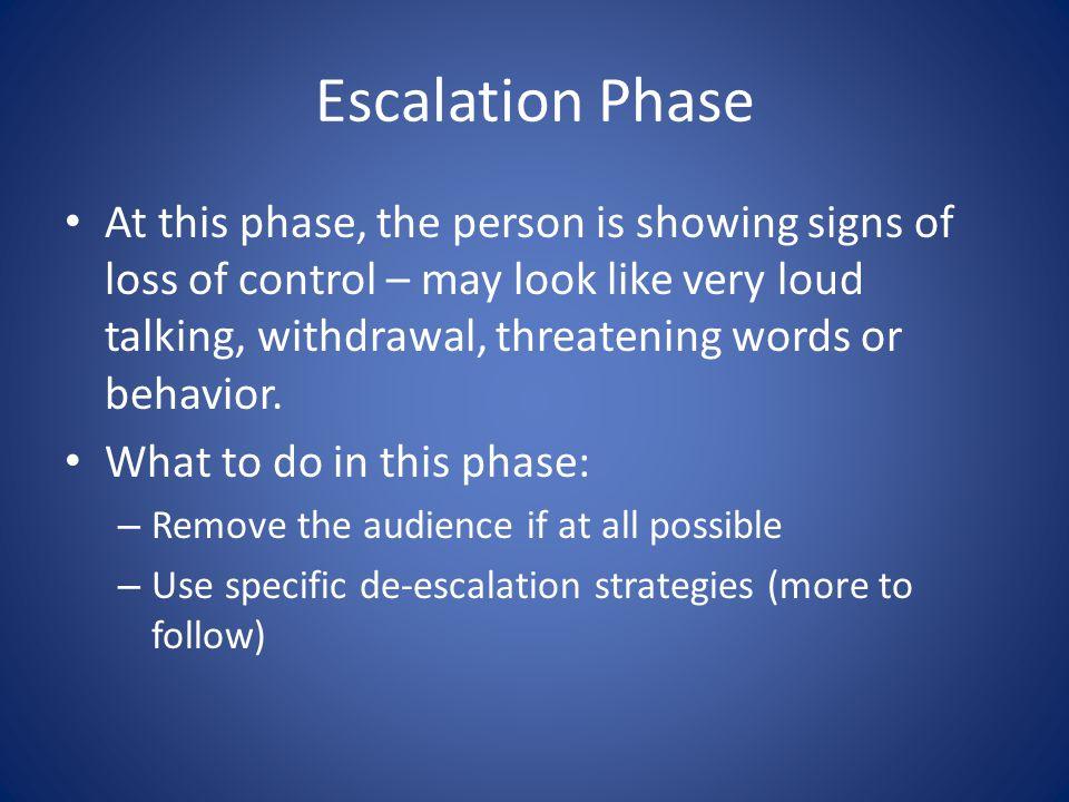 Escalation Phase