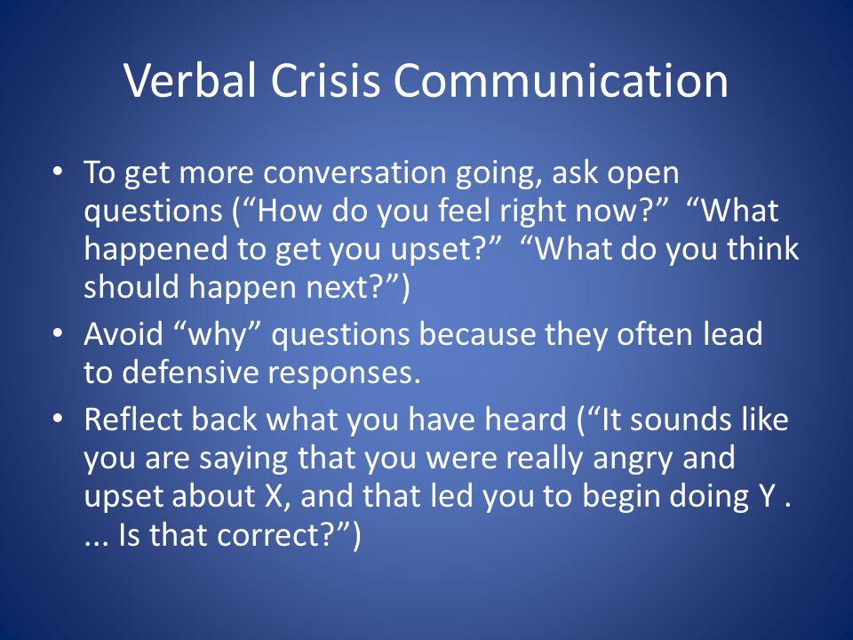 Verbal Crisis Communication