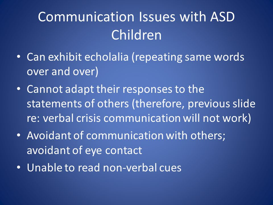 Communication Issues with ASD Children