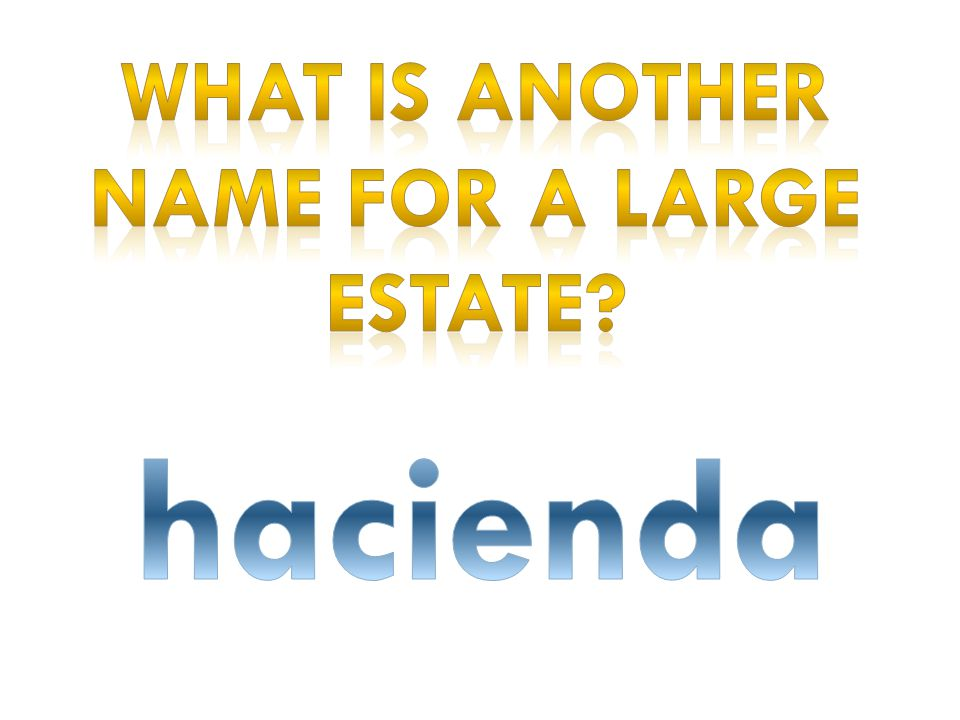 What is another name for A large estate