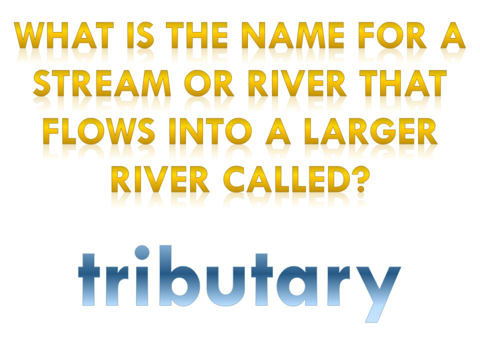 What is the name for a stream or river that flows into a larger river called