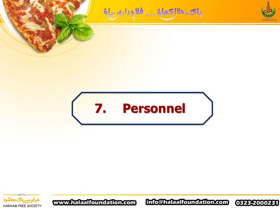 7. Personnel