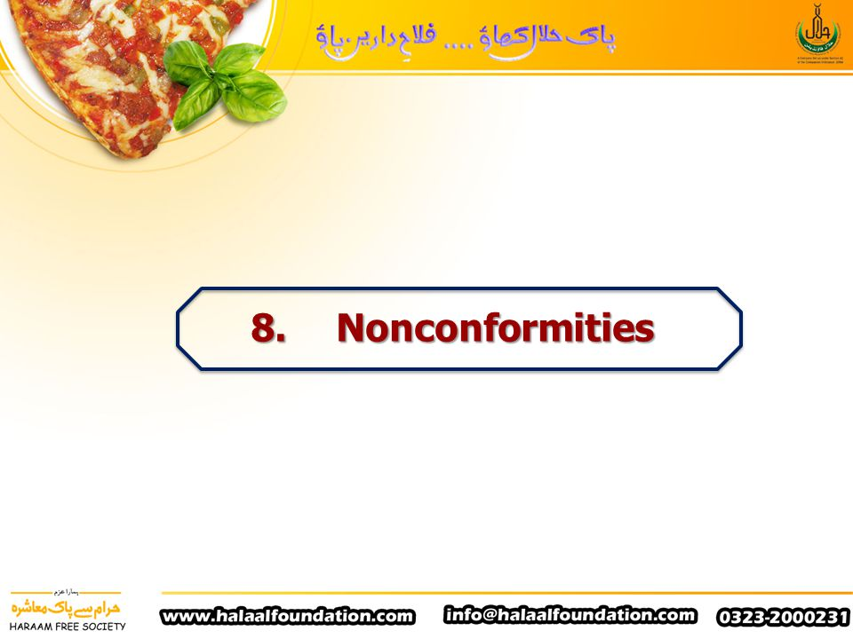 8. Nonconformities
