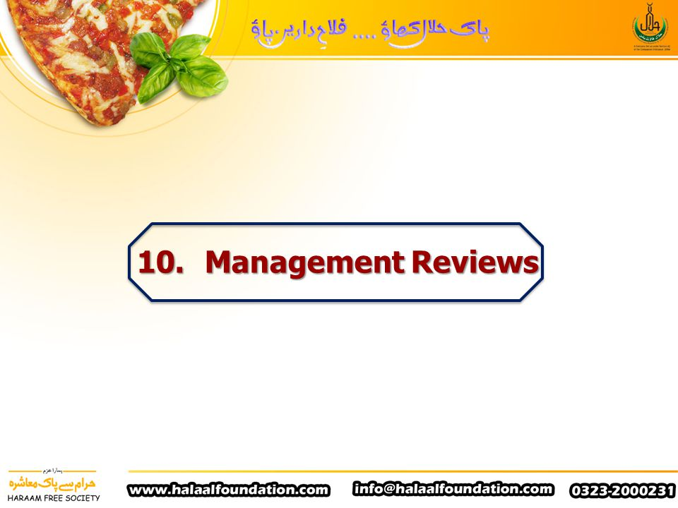 10. Management Reviews