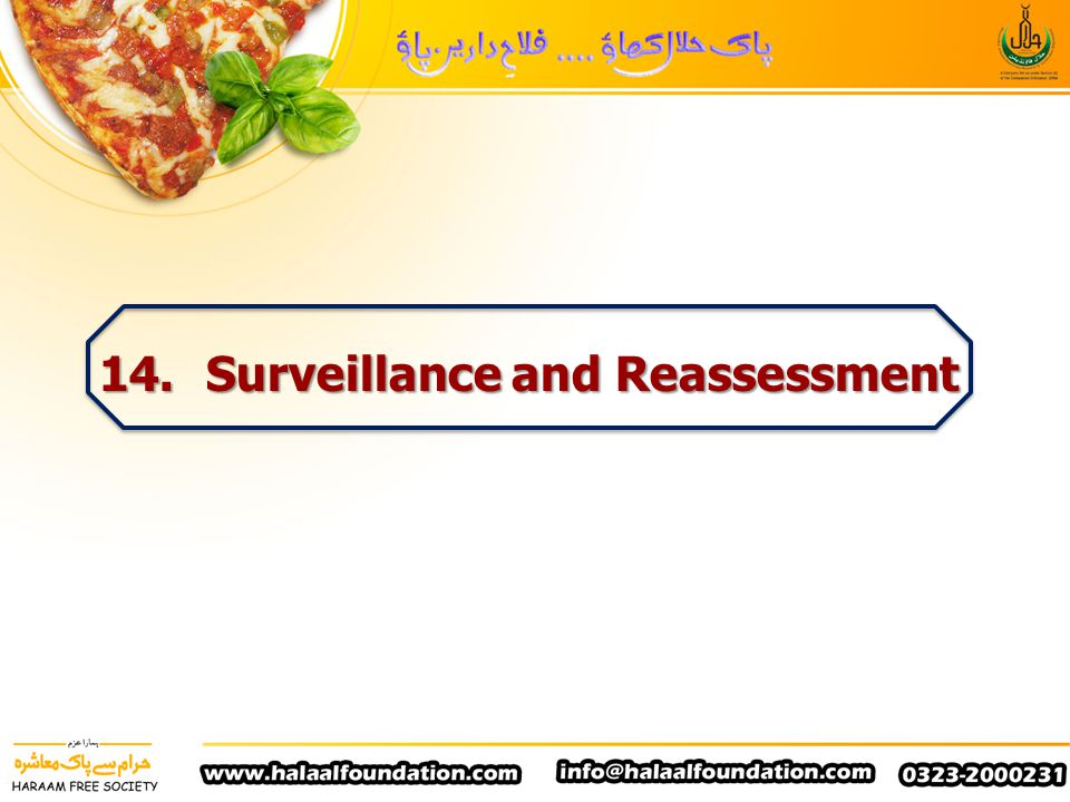 14. Surveillance and Reassessment