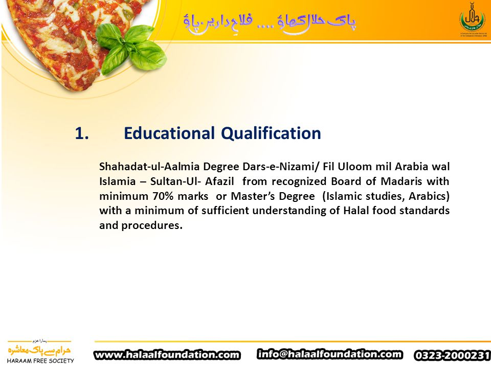 1. Educational Qualification