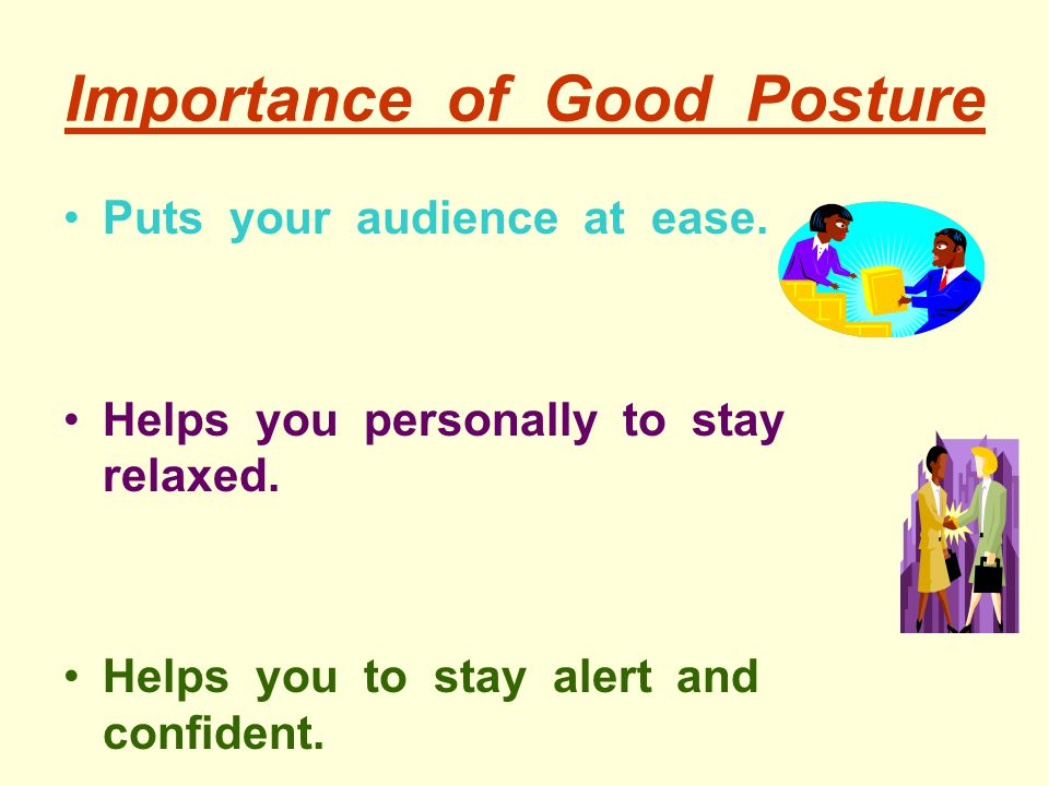 Importance of Good Posture